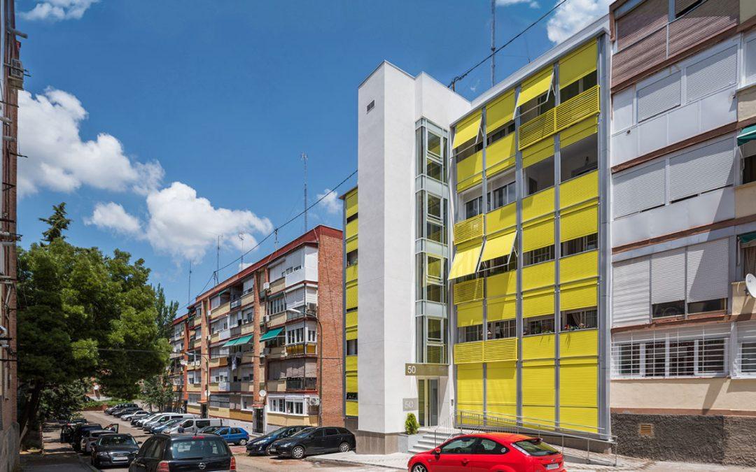 Estudio Bher – Rehabilitación energética en un bloque de 10 viviendas en Avenida Manoteras (Madrid)